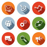 Marketing icon collection Royalty Free Stock Images