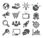 Marketing icon set Royalty Free Stock Photos