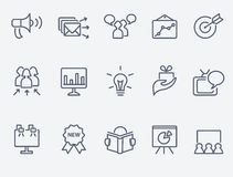 Marketing icon set. Set of 15 marketing icons Royalty Free Stock Photo