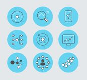 Marketing icon set made in vector eps10 on green background royalty free stock photography