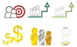 Marketing icons Royalty Free Stock Images
