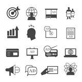 Marketing icons. Market sales and representative vector signs Royalty Free Stock Photos