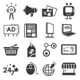 Marketing icons stock illustration