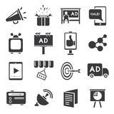 Marketing icons Royalty Free Stock Images