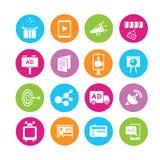 Marketing icons royalty free illustration