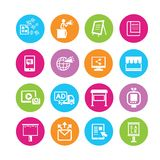Marketing icons Royalty Free Stock Photography