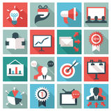 Marketing icons Stock Photography