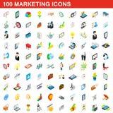 100 marketing icons set, isometric 3d style. 100 marketing icons set in isometric 3d style for any design illustration royalty free illustration