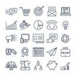 Marketing icons set. Royalty Free Stock Images