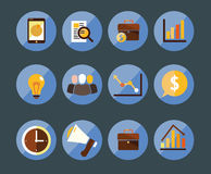 Marketing 12 icons. Some business icons for presentations and work Stock Photos