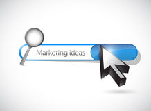 Marketing ideas search bar illustration design Royalty Free Stock Photos
