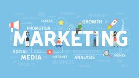 Marketing illustartionconcept royalty-vrije illustratie