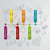 Marketing infographic concept and hand drawn Stock Images
