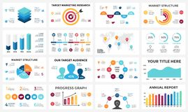 Marketing infographic, cycle diagram, global business graph. Circle arrows diagram for graph infographic presentation with steps parts options Stock Image