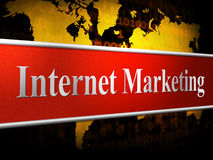 Marketing Internet Means World Wide Web And Promotions Royalty Free Stock Photos