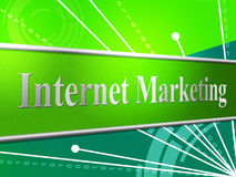 Marketing Internet Represents World Wide Web And Www Stock Image