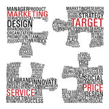 Marketing  jigsaw piece communication. Royalty Free Stock Image