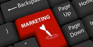 Marketing on keyboard Enter Royalty Free Stock Photography