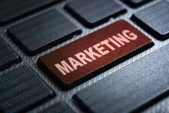 Marketing keyword on keyboard. Marketing keyword concept on computer keyboard technology background macro shot vector illustration