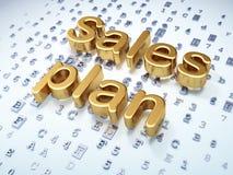 Marketing-Konzept: Goldener Verkaufs-Plan auf digitalem Hintergrund Lizenzfreie Stockfotografie