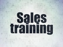 Marketing-Konzept: Verkaufsschulung auf Digital-Daten-Papierhintergrund lizenzfreie abbildung