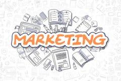 Marketing - Krabbel Oranje Tekst Bedrijfs concept royalty-vrije illustratie