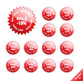 Market discount sale off percent 10 20 25 30 33 40 50 60 70 80 90 100 110 price tag sticker star save coupon savings offer money Royalty Free Illustration