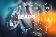 Marketing leads and sales concept. stock photo