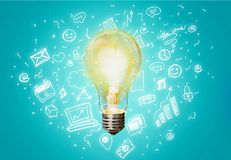 Marketing. Lightbulb element vision idea business concept Stock Photo
