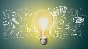 Marketing. Lightbulb element vision idea business concept