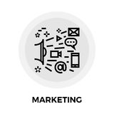 Marketing Line Icon. Marketing icon vector. Flat icon isolated on the white background. Editable EPS file. Vector illustration Royalty Free Stock Photos