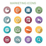 Marketing long shadow icons Stock Photography