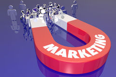 Marketing Magnet Pull Attract New Customers Stock Images
