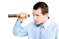 Marketing man conducting competitor analysis Stock Photo