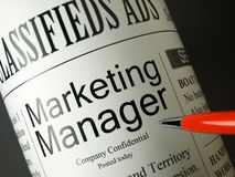 Marketing Manager - Jobs Stock Images