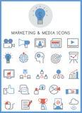 Marketing & media icons set Royalty Free Stock Images