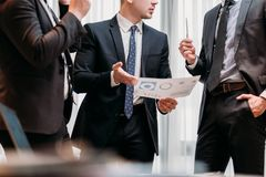 Marketing meeting business corporate men discuss Royalty Free Stock Photo