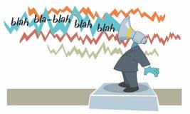 Marketing Megaphone Figure Making Noises Stock Image