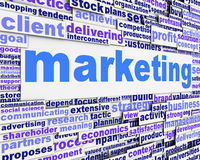 Marketing message conceptual design. Business management icon concept Royalty Free Stock Images