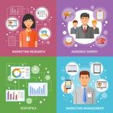 Marketing Method Flat Royalty Free Stock Photo