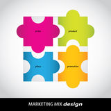 Marketing mix royaltyfri illustrationer