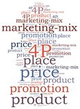 Marketing mix concept. Word cloud illustration. Royalty Free Stock Images