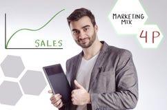 Marketing mix, 4p concept Royalty Free Stock Photos