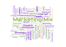 Marketing mix word cloud Royalty Free Stock Image