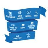 Marketing naderend Grafisch Lint vector illustratie