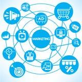 Marketing network vector illustration