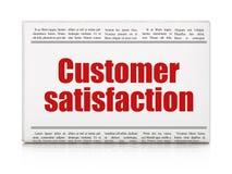 Marketing news concept: newspaper headline Customer Satisfaction Royalty Free Stock Photo