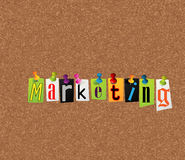 Marketing notice concept. Notice concept for your marketing strategy Royalty Free Stock Photos