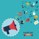 Marketing online. Design,  illustration eps10 graphic Royalty Free Stock Photography