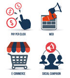 Marketing online. Design,  illustration eps10 graphic Royalty Free Stock Images